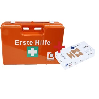 ABS first aid kit M, incl. DIN 13 157 + Plaster-Set 1
