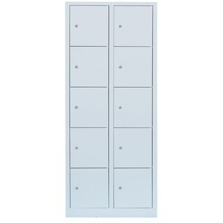 Steel compartment cabinet / valuables cabinet - 2 units, 10 compartments