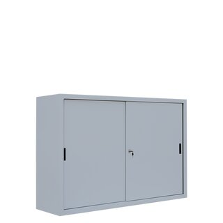 Sliding door cabinet, 2 x 2 shelves