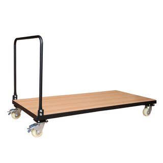 Folding table transport trolley, 1600 x 700 mm